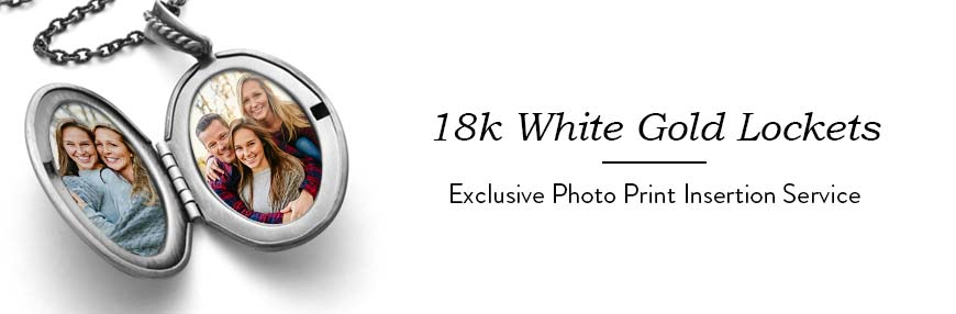 18K White Gold Lockets