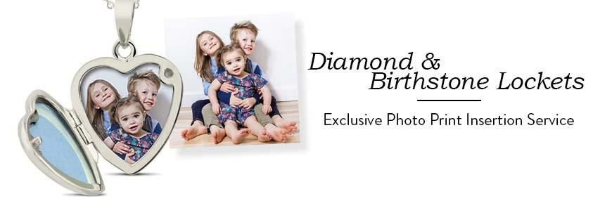 Diamond & Birthstone Lockets