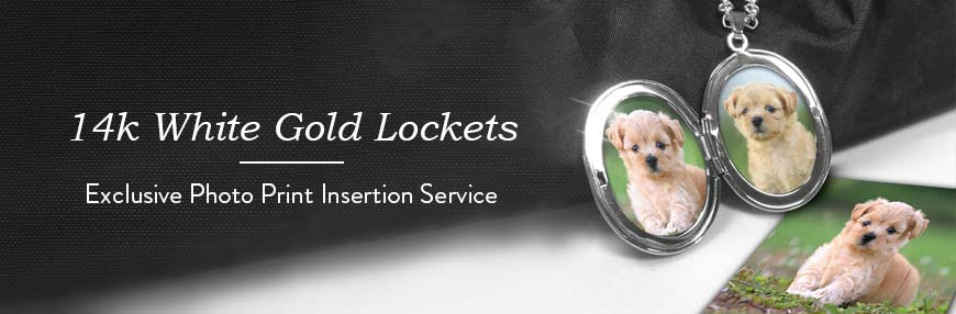 14K White Gold Lockets