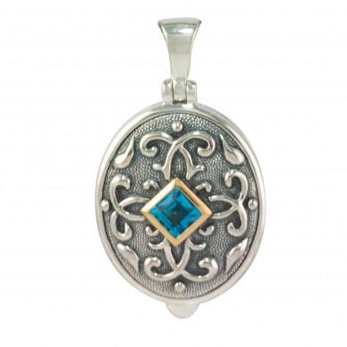 Sterling Silver Antique Birthstone Locket