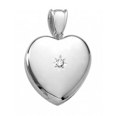 Mrs Potter Platinum Diamond Locket