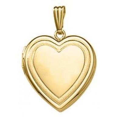 Yellow Gold  Heart Locket - Bailey