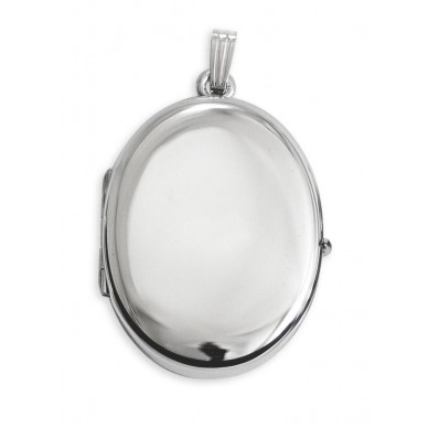 Sterling Silver Family Oval  Locket - Kate 3/4""