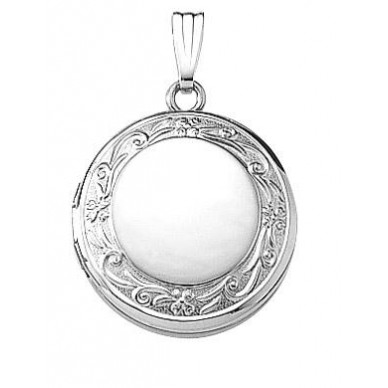 Sterling Silver Round Locket - Celeste