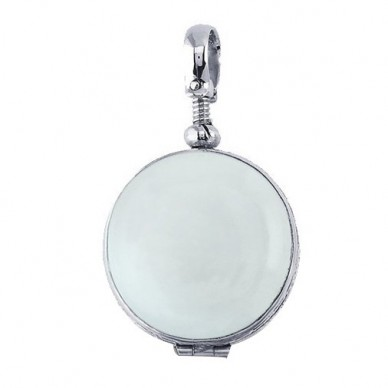 Sterling Silver Round Glass Dome Locket