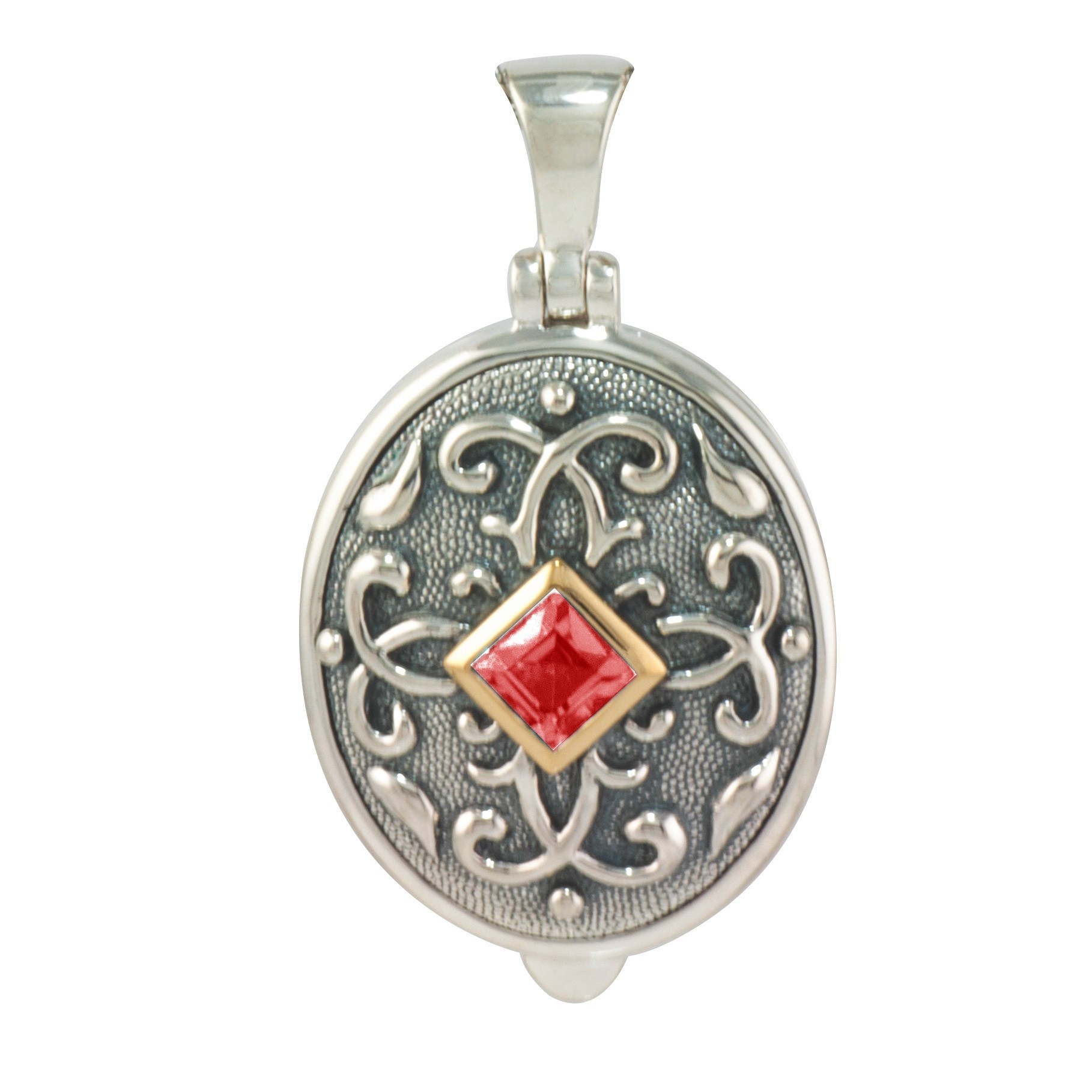 with silverware locket clear newbridge product stones lockets o hara maureen