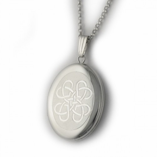 e94b748846735 Sterling Silver Celtic Locket - Love Knot - .925 Sterling Silver ...