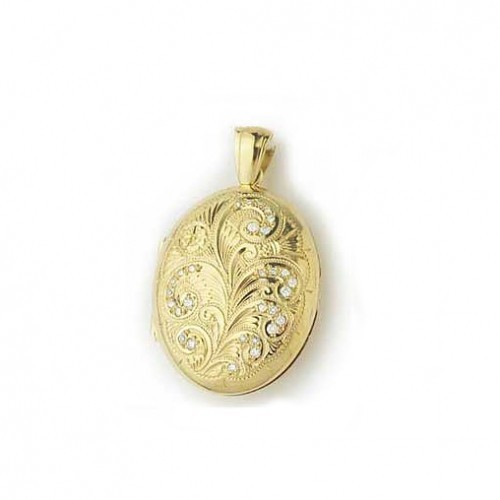 dp engraved com amazon flowers filled heart lockets yellow gold quot locket