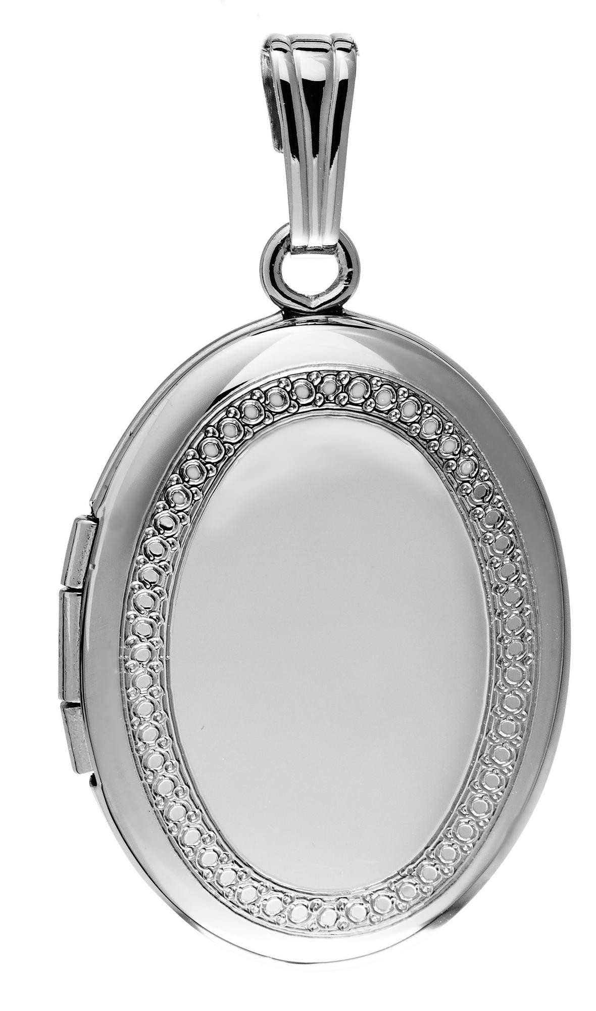 engraved cachet silver floral oval birks lockets item vintage sterling full locket f