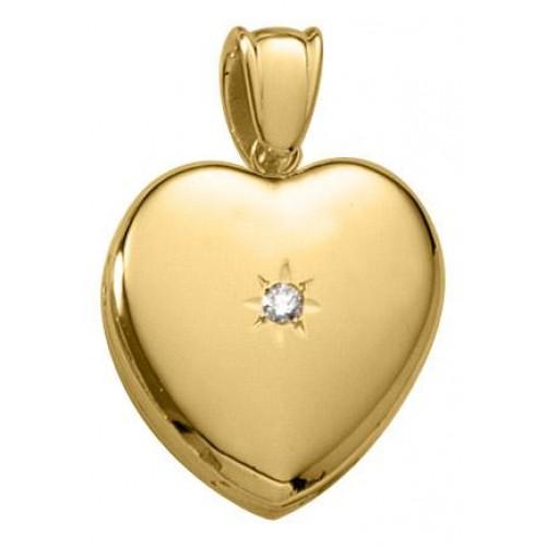 14k Yellow Gold Locket & Diamond - Mrs Potter