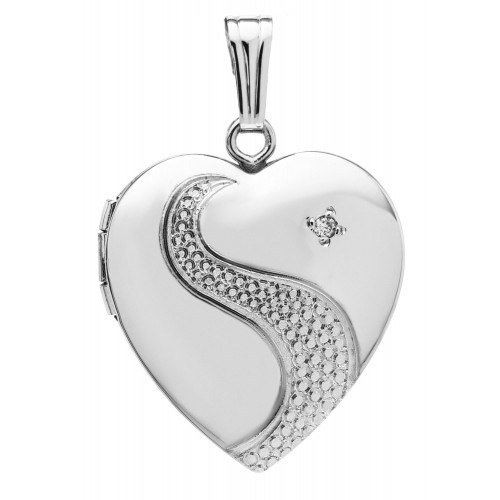 diamond heart silver tw carat pendant miabella locket t sterling w en ip