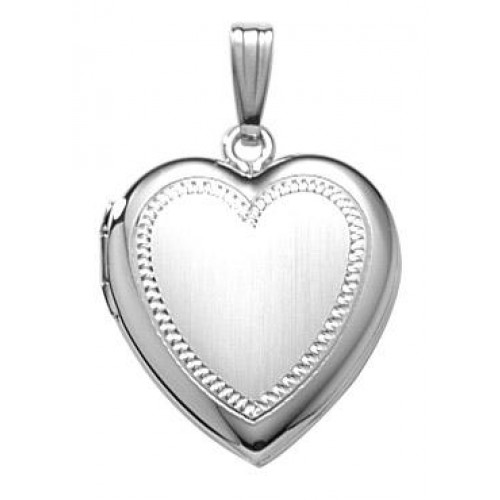 Sterling Silver Heart Locket - Emily