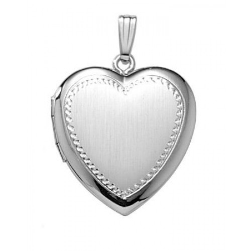 Sterling Silver Hand Engraved Heart Locket - Camilla