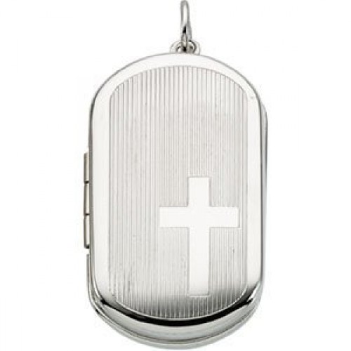 Sterling Silver Dogtag Locket