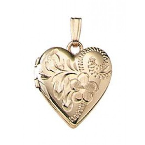 Gold Filled Child Heart Locket - Kendra