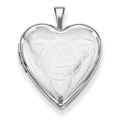 Sterling Silver Trinity Heart Photo Locket