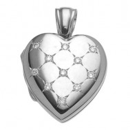 Morgan Platinum Heart Locket