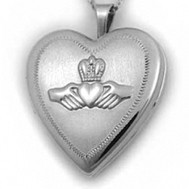 Sterling Silver Claddagh Heart Locket
