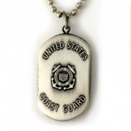 Silver Plated Over Brass U.S. Coast Guard Dogtag Locket