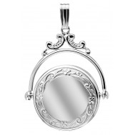 Sterling Silver Victorian Round Locket - Elizabeth