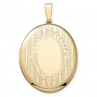 14k Yellow Gold  Oval Locket - Beverly