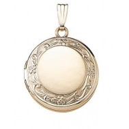 14K Yellow Gold Round Locket  - Celeste