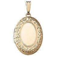 Gold Filled Oval Locket- Rebecca