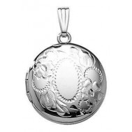 Sterling Silver Round Locket - Henriette