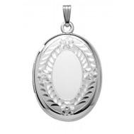 Sterling Silver Oval Locket - Beverly