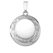 Sterling Silver Round Locket - Celeste