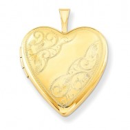 14k Gold Filled Floral Heart Photo Locket