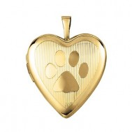Gold Filled Paw Locket - Coco