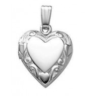 "Sterling Silver ""Sweetheart"" Heart Locket"
