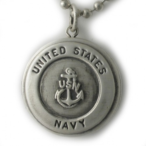 Silver U.S. Navy Round Locket