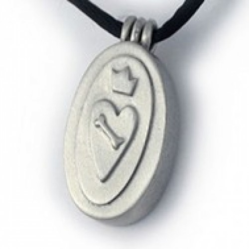 A Dog's Love Oval Pendant