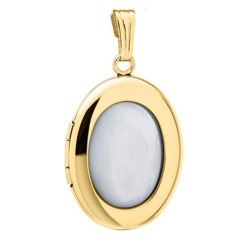 Gold Filled Mother of Pearl Oval Locket
