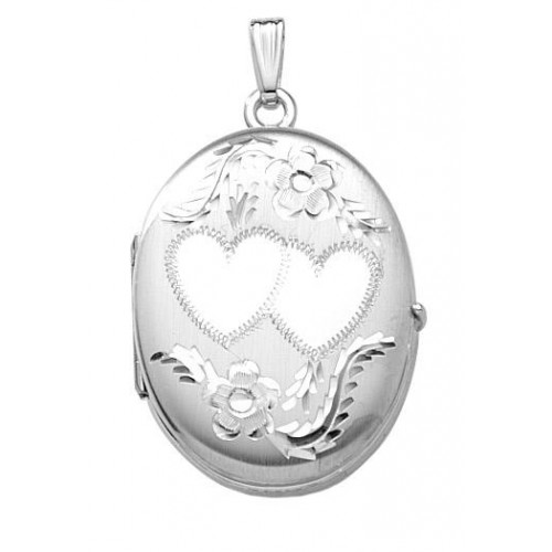 Sterling Silver Four Picture Oval Locket - Brianna