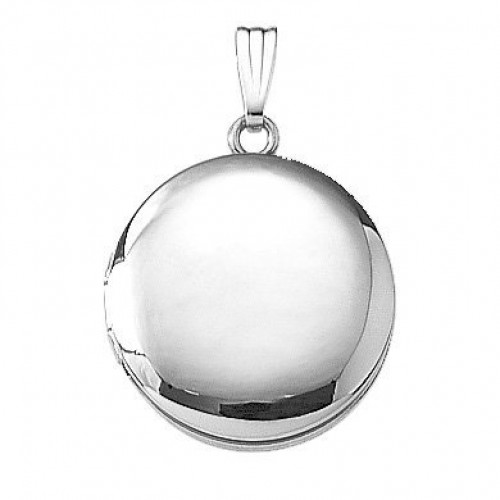 Sterling Silver Round Locket - Veronica