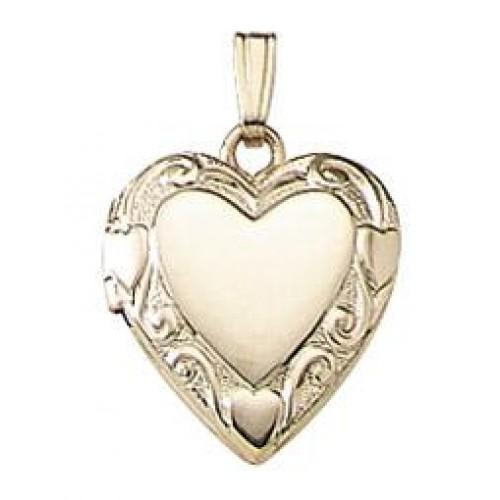 14K Gold Sweetheart Heart Locket